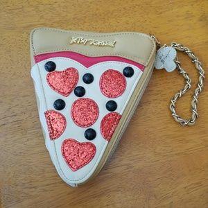 Betsey Johnson Pizza Wristlet/Clutch